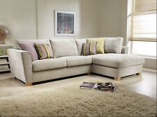 NEW OSLO CORNER SOFA Or 3+2 SEATER BEIGE FABRIC LEFT or RIGHT SIDE HALF PRICE !!