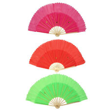 Chinese Summer Bamboo Fabric Wedding Party Hand Folding Dancing Fan