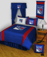 NEW YORK RANGERS SIDELINES COMFORTER, SHEET SET, TOSS PILLOW