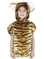 Children's Tiger Boys Girls Zoo Farm Animal Tabard Fancy Dress Up Costume Outfit