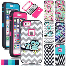 New Rugged Glossy Pattern Printed Painted Heavy Duty Combo Case Cover For iPhone