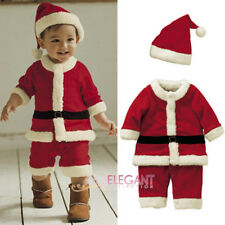 Toddler Kids Boys Children Christmas Santa Claus Costume Dress Outfit Hat Set