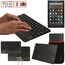 """Slim Wireless Bluetooth UK Keyboard with Touchpad for Amazon Fire HD 10"""" Tablet"""