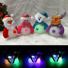 Christmas Santa Claus Snowman LED Flashing Light Party Xmas Tree Hanging Decor