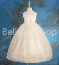 Wedding Flower Girl Tulle Dresses Gown Party Pageant Occasion Size 2T-8 FG060