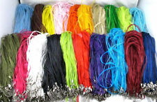 Wholesale 10/100pcs Variety of Colors Ribbon Voile Necklace Cord Fit Chains 46cm