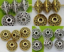 New 30/100/500pcs Antique Silver Beads Jewelry Charms Spacer Beads DIY 7x4mm