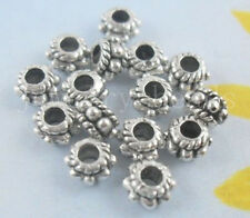 New 20/100/500pcs Antique Silver Spacer Beads Jewelry Charms 5x3mm Hole:2mm
