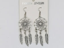 1/10 Pairs Tibet Silver Fashion Hook Dangle Drop Dream Catcher Earrings Jewelry