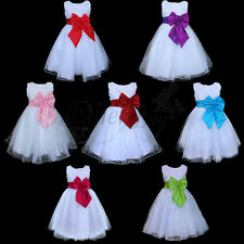 Flower Girl Dress Bow Knot Wedding Birthday Party Bridesmaid Christmas Pageant