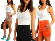 Tall waisted tapered fitted Shorts with button High waist Size 36 - 38 S M 008