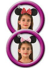 Child Disney Red Minnie Mouse Ears Fancy Dress Headband Polkadot Bow Girls BN
