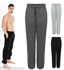 NEW MENS FULL LENGTH TRACKSUIT CASUAL  JOGGING  ZIP POCKETS TROUSER BOTTOMS