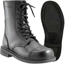 "Combat Boots Black Military Style 9"" Leather Combat Boots Jump Boots Style 5075"