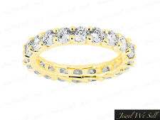 2.25Ct Round Brilliant Diamond Shared Prong Eternity Band Ring 18K Gold G SI1