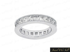 2.70Ct Princess Diamond Channel Set Milgrain Eternity Band Ring 18K Gold G SI1