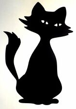 Cat Cartoon Sitting Sexy Eyes Car Window Vinyl Decal Sticker Choose 12 Colors