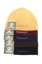 TIMBERLAND Men's Beanie *Black/Brown/Blue w/Logo Acrylic Knit Winter Hat *1 Size