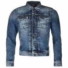 Pepe Jeans Rooster Jacket Outerwear Button Denim Mens Gents