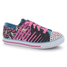 Skechers TT C Chat Lo Printed Canvas Shoes Plimsolls Lace Up Childrens Kids