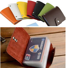 Men Women 24 Cards PU Leather Pocket Business ID Credit Card Holder Wallet SA