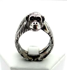 Monkey Ring, Chimpanzee Ring, Ape Ring, 925 Sterling Silver, Silver Ring, Chimp