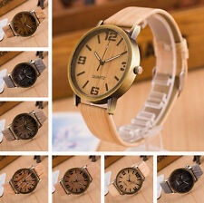 Wooden Quartz Men Watches Casual Wooden Leather Strap Watch Wood Wristwatch