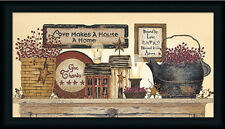 Blessed From Above Country Primitive Framed Art Print by Linda Spivey