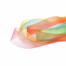 25mm Organza Ribbon Large Wholesale Rolls Of 200 Yards Polyester - 25 Colours