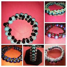 Braclets  (Acrylic and Glass pearls Mix Bead)