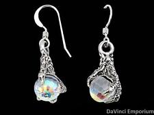 Arkenstone Earrings 14k White Gold Lord of the Rings and The Hobbit