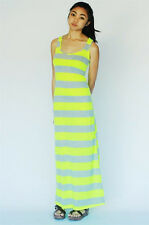 Vacatio BEACH Stripe Racer Back Fitted Stretchy Long Maxi Summer Sun Dress S/M/L