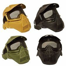 Tactical Airsoft Full Face Mask Safety Metal Mesh Goggles Protection CS M85