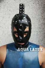 Unisex Rubber Latex Hood Studded Tube Hood Latex Rubber Mask