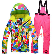 Women' Sport Colorful Waterproof Windproof Breathable Snowboard Ski Suits S-XL