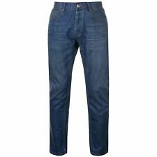 Firetrap Rom Jeans Cotton Slightly Distressed Look Mens Gents