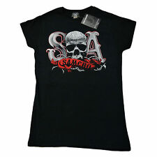 Sons of Anarchy SOA SAMCRO Skull Thorns Duotone OFFICIAL Girls Fitted T-Shirt