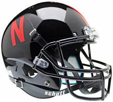 "NEBRASKA CORNHUSKERS "" BLACK "" XP FULL SIZE SCHUTT REPLICA FOOTBALL HELMET"