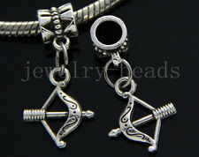 6/30/100pcs Tibetan Silver Mini bow Bulk Lots Dangle Jewelry DIY Charms Bracelet