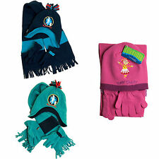 Childrens In The Night Garden Hat Scarf And Gloves Set Blue Pink Age 1 - 4 Years