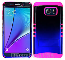 Hybrid Silicone Cover Case for Samsung Galaxy Note 5 TN PK/Blue