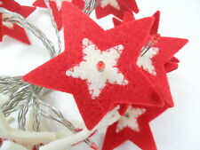 Christmas XMAS String Light Rouge Living Felt Tree Snowman Star