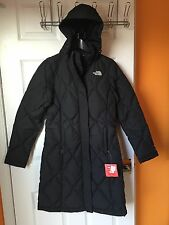 NEW NORTH FACE WOMEN'S DOWNTOWN PARKA GOOSE DOWN LONG JACKET Black XS M XL -NWT