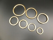 """HEAVY Solid Brass O Rings Leather Craft 3/4"""" to 2"""" in packs of  2,5,10,15,25,50"""