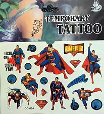 Kids Temporary Tattoos Stickers Super Man Body Art Removable Waterproof Party