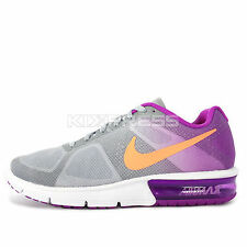 WMNS Nike Air Max Sequent [719916-007] Running Wolf Grey/Orange-Purple