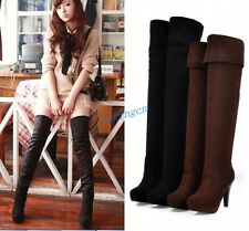 Sexy Women High Heel Shoes Thigh High Over the Knee Boots Stilettos Winter Shoes