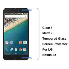 New Tempered Glass / Clear / Matte Film Screen Protector For LG Google Nexus 5X