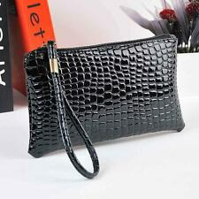 New Womens Handbag Bag Crocodile Leather Clutch Handbag Messenger Bag Coin Purse