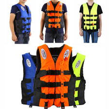 Universal Foam Adult Aid Life Jacket Boating Skiing Vest Safe S-XXL with Whistle